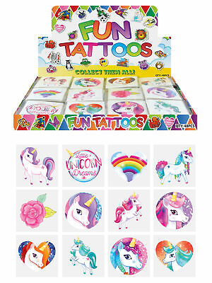 £0.99 • Buy 12 Unicorn Temporary Tattoos - Pinata Toy Loot/Party Bag Fillers Childrens/Kids