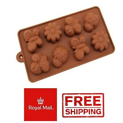 Butterfly Ladybird Kids Flowers Ice Silicone Mould Mold Wax Melts Ice Chocolates • 2.79£