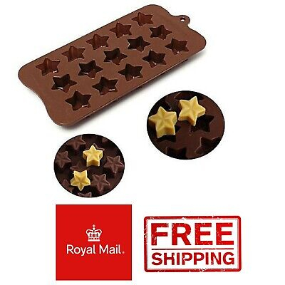 3D Stars Silicone Mould Wax Melts Ice Chocolates Jelly Mold Deserts Homemade • 2.99£