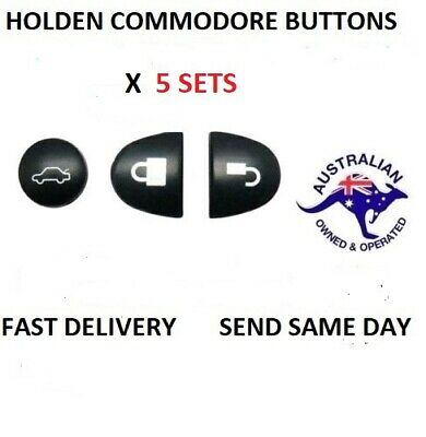 AU7.49 • Buy 5X Sets Key Remote Buttons Holden Commodore Key Buttons VS VT VX VY VZ WH WK WL