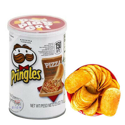 £12.63 • Buy PRINGLES ( PIZZA ) FLAVOURS POTATO CHIPS 3 X TIN 71g AMERICAN CHIPS