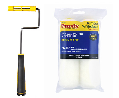£12.18 • Buy Purdy Jumbo MINI PAINT ROLLER FRAME Including 6.5 , 4.5  Paint Roller Sleeves X2