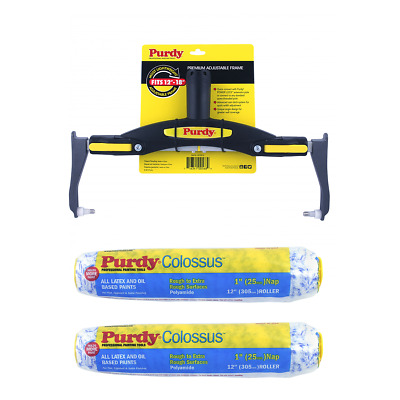 £34.51 • Buy Purdy Adjustable Roller Frame + 2 X 12  Colossus (1  Nap) Refills