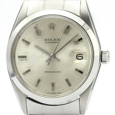 $ CDN2110.30 • Buy Vintage ROLEX Oyster Date Precision 6694 Steel Hand Winding Mens Watch BF509541