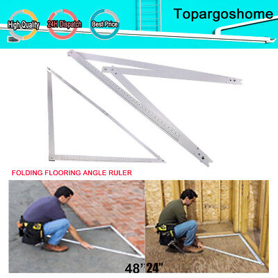 24  48 Inch Folding Adjustable Builders Square Set Right Angle Ruler 90° & 45° • 9.99£