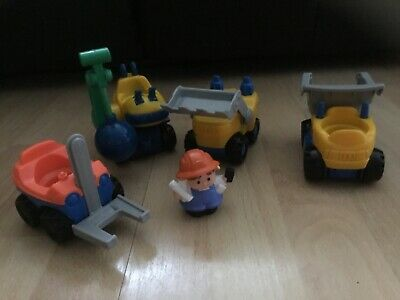 Fisher Price Little People Construction Building Site Vehicles  • 12.99£