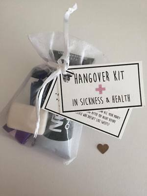 Hangover Survival Kit - Hen Party Bags - Wedding Favors • 1.74£