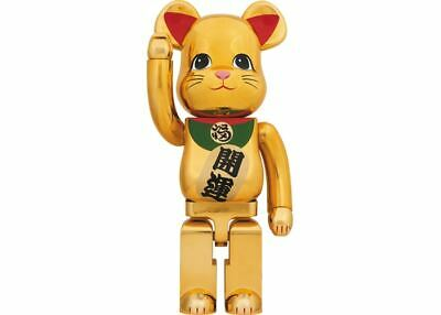 $2999.99 • Buy Manekineko Lucky Cat Bearbrick 1000% Ver.3 Be@rbrick Beckoning Gold Rare Limited