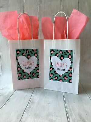 Personalised White Hen Party Favour, Goodie Bag, With Tissue Paper  • 1.19£