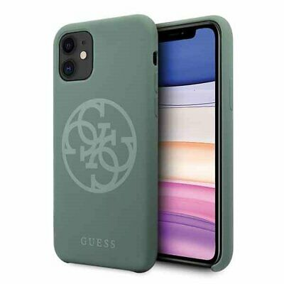 Genuine Guess Circle Silicone Impact Case Cover For Apple IPhone 11 In Green • 22.95£