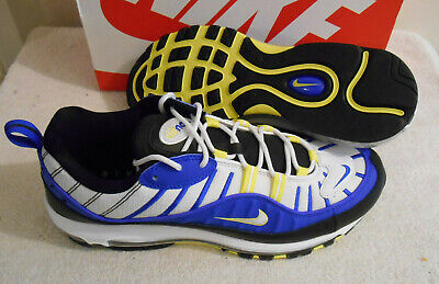 $89.99 • Buy 2019 Nike Air Max 98 Racer Blue White Black Sneakers Size 12 640744 400
