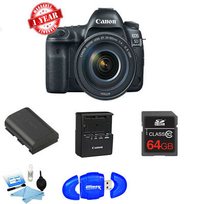 $ CDN4496.03 • Buy Canon EOS 5D Mark IV DSLR W/ 24-105mm F/4L II Lens + 64GB + CARD READER KIT