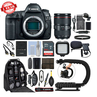 $ CDN4423.54 • Buy Canon EOS 5D Mark IV DSLR Camera & 24-105mm F/4L II USM Lens+ 64GB Pro Video Kit