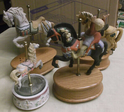 $15 • Buy Willits Carousel Horse Melody Music Boxes: Be A Clown/Carousel Waltz/Memory/mirr
