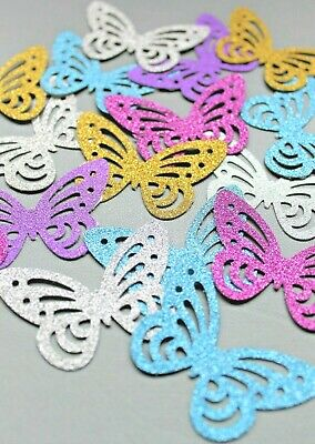 40 Sparkly Butterflies Large Card Making Craft Embellishments Scrapbook  • 1.50£