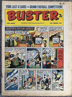 BUSTER COMIC - February 28th 1970. British Weekly IPC - Galaxus Fishboy • 1.99£