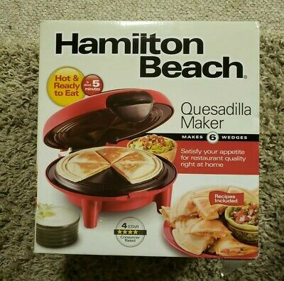 $25 • Buy Hamilton Beach Red Quesadilla Maker 25409 NIB !