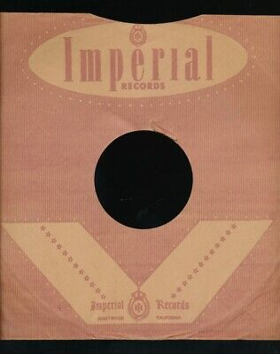 $15 • Buy 78 RPM Company Logo Sleeves-Post-War-IMPERIAL