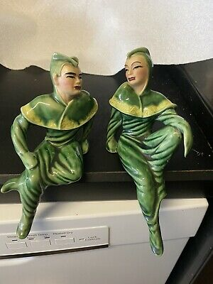 $100 • Buy Ceramic Arts Studio Maurice And Michelle 1950's Moderne Figurines Shelf Sitters