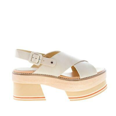 $ CDN226 • Buy PALOMA BARCELO' Women Shoes Beige Napa Leather Chinami Sandal With Platform