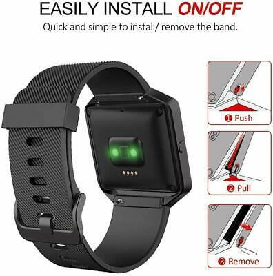 $ CDN29.79 • Buy Fitbit Blaze Smart Fitness Watch Large Silicone Replacement Band Gunmetal Frame