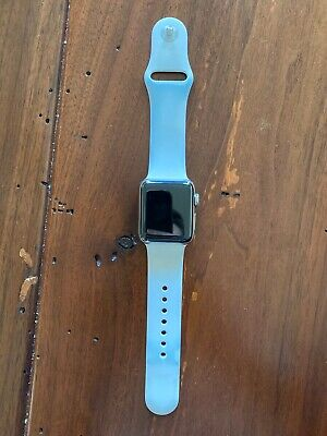 $ CDN141.84 • Buy Apple Watch Series 3 38mm Stainless Steel Case With Soft White Sport Band (GPS +