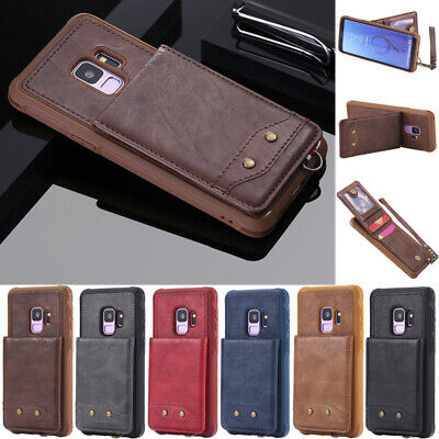 $ CDN8.79 • Buy For Samsung S8 S9 S10 Plus Note 9 Slim Flip Leather Card Wallet Back Cover Case