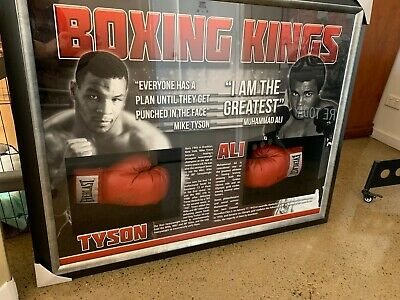 AU2200 • Buy BOXING KINGS Tyson & Ali Signed & Framed Gloves