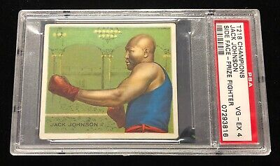 $189.99 • Buy Jack Johnson / T218 Champions Side View Prize Fighter Tobacco Psa 4 Vg-ex Card