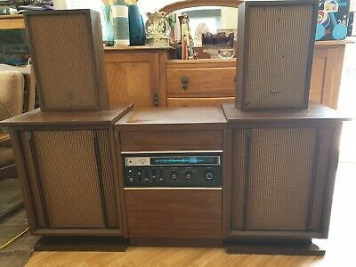AU125 • Buy Stereo Sony Record Player C1970s Working Except Radio With X4 Toshiba Speakers