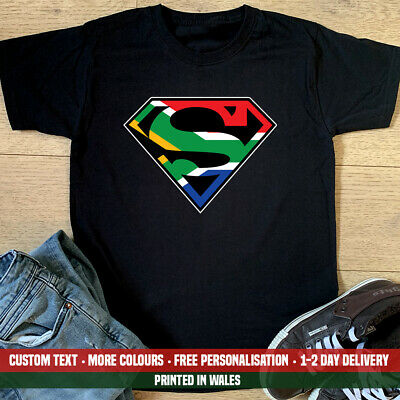 £10.99 • Buy South African Superman T Shirt Africa Birthday Springboks Cricket Rugby Gift Top