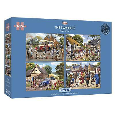 £24.47 • Buy Gibsons The Evacuees Jigsaw Puzzle (4 X 500 Pieces)