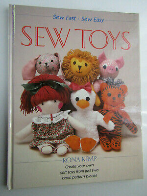 Easy Soft Toys & Dolls Sewing Pattern Book [make Toys From Just 2 Basic Pieces] • 4.99£