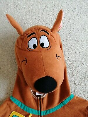 Adults Scooby Doo Fancy Dress Dog Costume Size Large Mens • 9.99£
