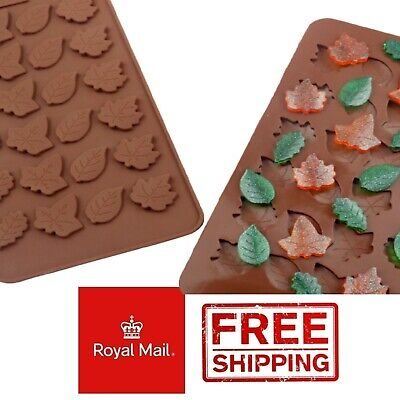 £2.79 • Buy 24 Leaf Leaves Decorative Fondant Chocolate Wax Melts Mold Silicone Mould