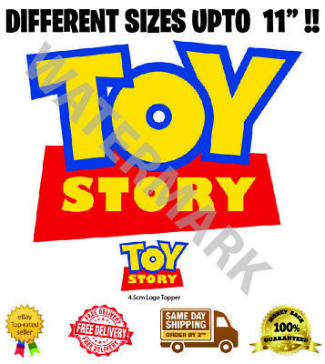 £4.20 • Buy Toy Story Logo Badge Wafer Icing Cake Topper