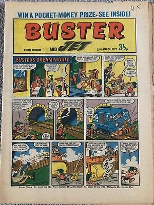 BUSTER AND JET Comic - March 25th 1972. British Weekly IPC - Galaxus Von Hoffman • 1.99£