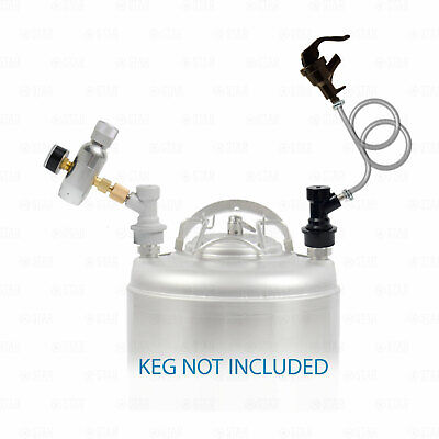 Ball Lock Corny Keg Portable Dispensing Kit Mini Co2 Regulator + Picnic Faucet • 38.18£