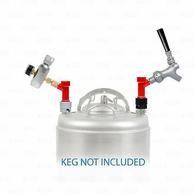 Pin Lock Corny Keg Portable Dispensing Kit Mini Co2 Regulator + Sampling Faucet • 45.81£
