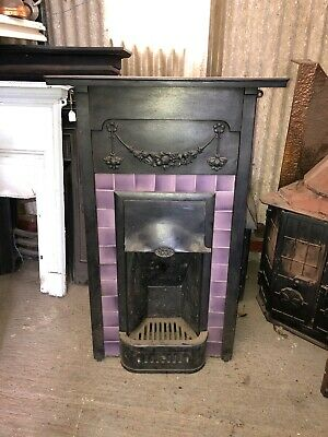 Victorian Style Cast Iron Fireplace Insert • 325£
