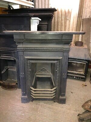 Victorian Style Cast Iron Fireplace Insert • 275£