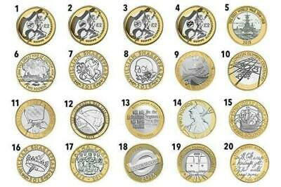UK £2 Coins 1997 - 2020 GB Coins Two Pound • 3.42£