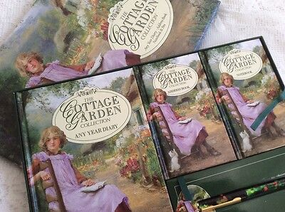 The Cottage Garden Any Year Diary Address Book Notebook & Pen • 14.99£