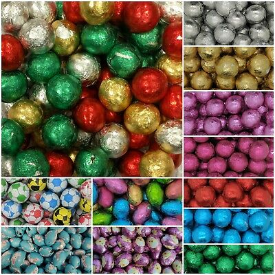 £1.95 • Buy Milk Chocolate Foil BALLS Wrapped Wedding Christmas Valentines Easter Favours