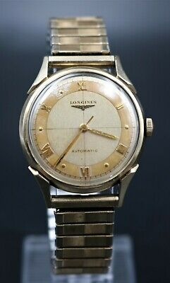 $ CDN158.79 • Buy Vintage Rare Bubble Back Gents Longines Two Tone Dial Watch: NICE!