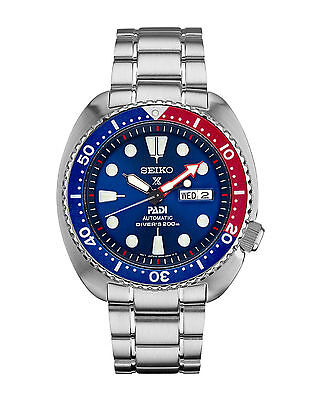 $ CDN403.62 • Buy New Seiko Padi Automatic Prospex Pepsi Turtle Divers 200M Men's Watch SRPA21
