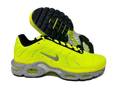 $98.98 • Buy Nike Air Max Plus PRM Mens Running Shoes Volt Wolf Grey 815994-700 Size 12