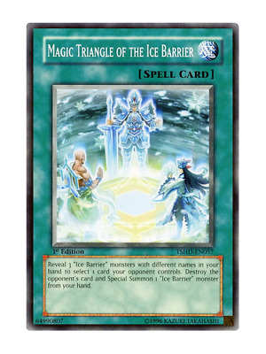 AU2 • Buy Magic Triangle Of The Ice Barrier - Mint / Near Mint Condition YUGIOH Card