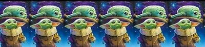 $6.99 • Buy 1  2YARDS Baby Yoda Grosgrain Ribbon Mandalorian Crafts Gift Wrap Cards Hair Bow