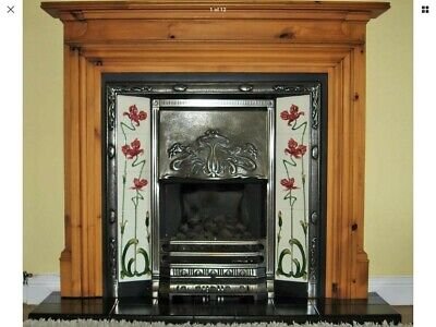 Victorian Style Cast Iron Fireplace With Wooden Surround • 200£